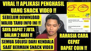 Viral Snack Video Aplikasi Penghasil Uang Tercepat 2021 Pemula Wajib Tahu Trick Ini Solusinya Youtube