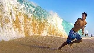 big and crazy shorebreak