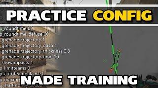 CS:GO PRACTICE CONFIG | Grenade Trajectory, Placing Bots and noclip