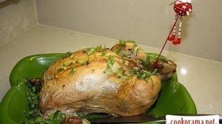 Курица с тыквенной начинкой
