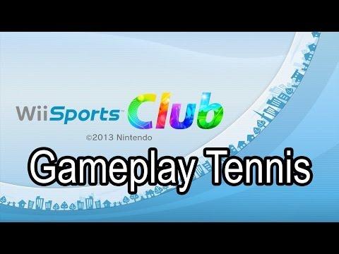 Wii U Wii Sports Club Gameplay Tennis