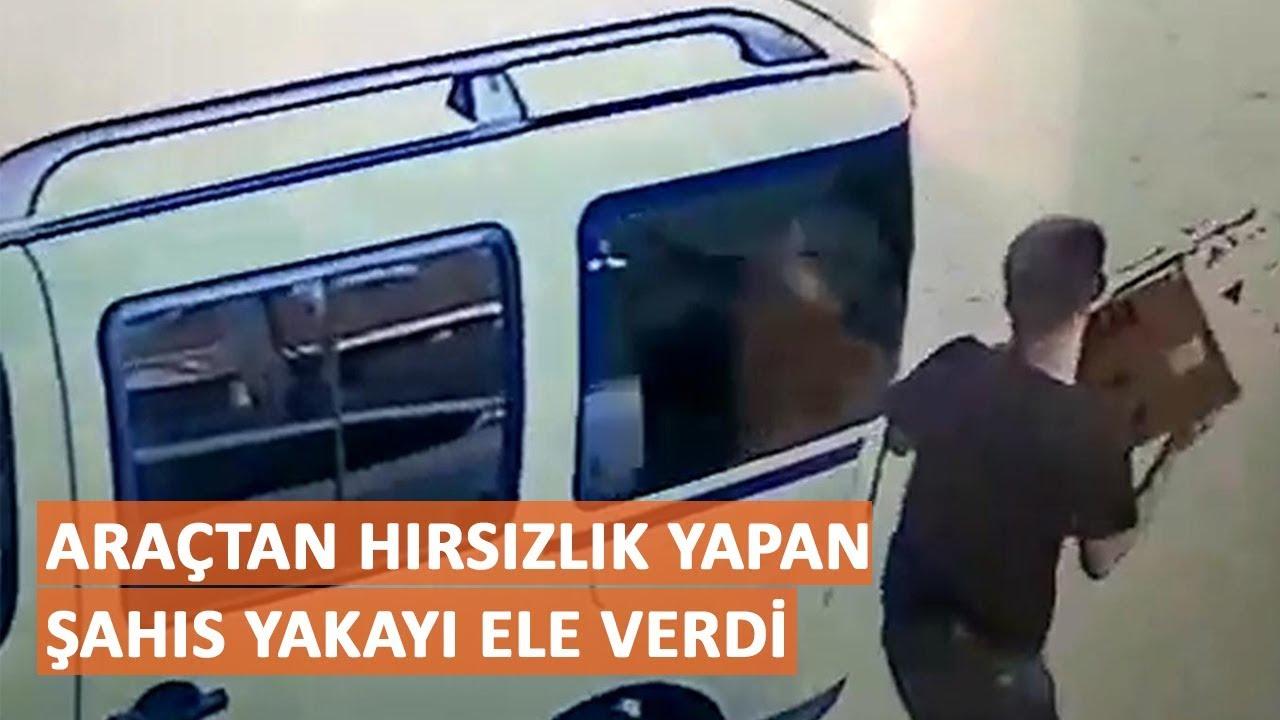 Araçtan hırsızlık yapan şahıs yakayı ele verdi
