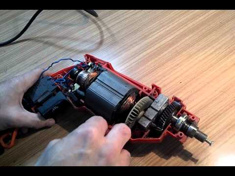 TALADRO POR DENTRO PARTES - The drill and its internal parts.