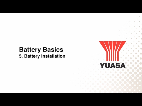 GS Yuasa - battery basics: 5. battery installation
