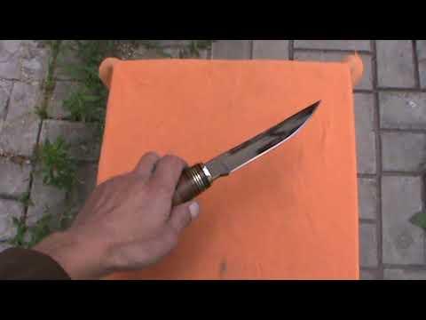 нож ручная работа. клинок 95х18. обзор готового ножа.СДЕЛАН БЕЗ ГРИНДЕРА КАК В ЗОНЕ.