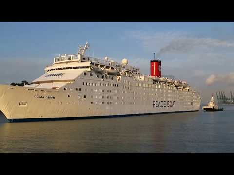 Ocean Dream(Peace Boat) Arrival In Singapore On Her 95th Global Voyage