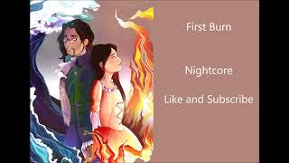 First Burn~Nightcore~Hamilton
