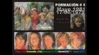 Las 11 formaciones del grupo Parchís de los 80's