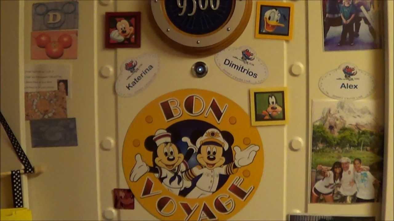 Disney's Dream - Decorated Doors - YouTube