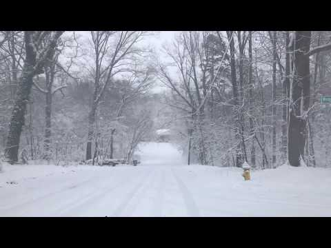 Smawley's Hill 2018 snow in Mooresville, NC