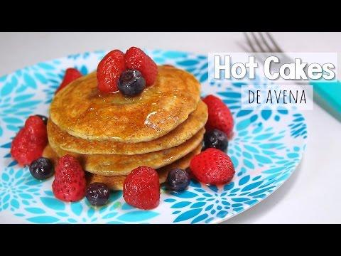 HOT CAKES DE AVENA RECETA SALUDABLES 😊 (desayuno o cena fácil - panqueques) | Mirem Itziar ❤