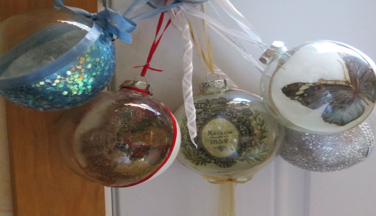 DIY Unique Christmas Ornaments Decoupage