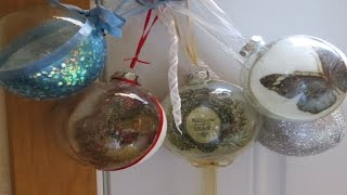 Decoupage Tutorial Christmas Balls with Glitter por patioelf