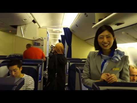 On board ALL NIPPON AIRLINES seat 38A ECONOMY class. Bound to Tokyo, Japan