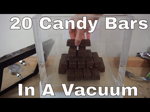 Thumbnail: What Happens When You Put 20 Candy Bars In a Huge Vacuum Chamber?