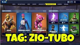 SHOP FORTNITE 25 April skin RAPACE, BOMBAROLO LUCENTE AND LEADER OF THE COCCOLE SQUAD