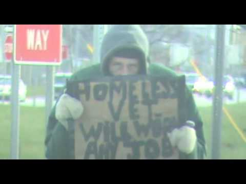 Homeless Man, Telegraph Road, Detroit, MI, December 19, 2015
