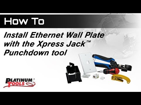 How To: Install Ethernet Wall Plate with Xpress Jack™ Punchdown Tool