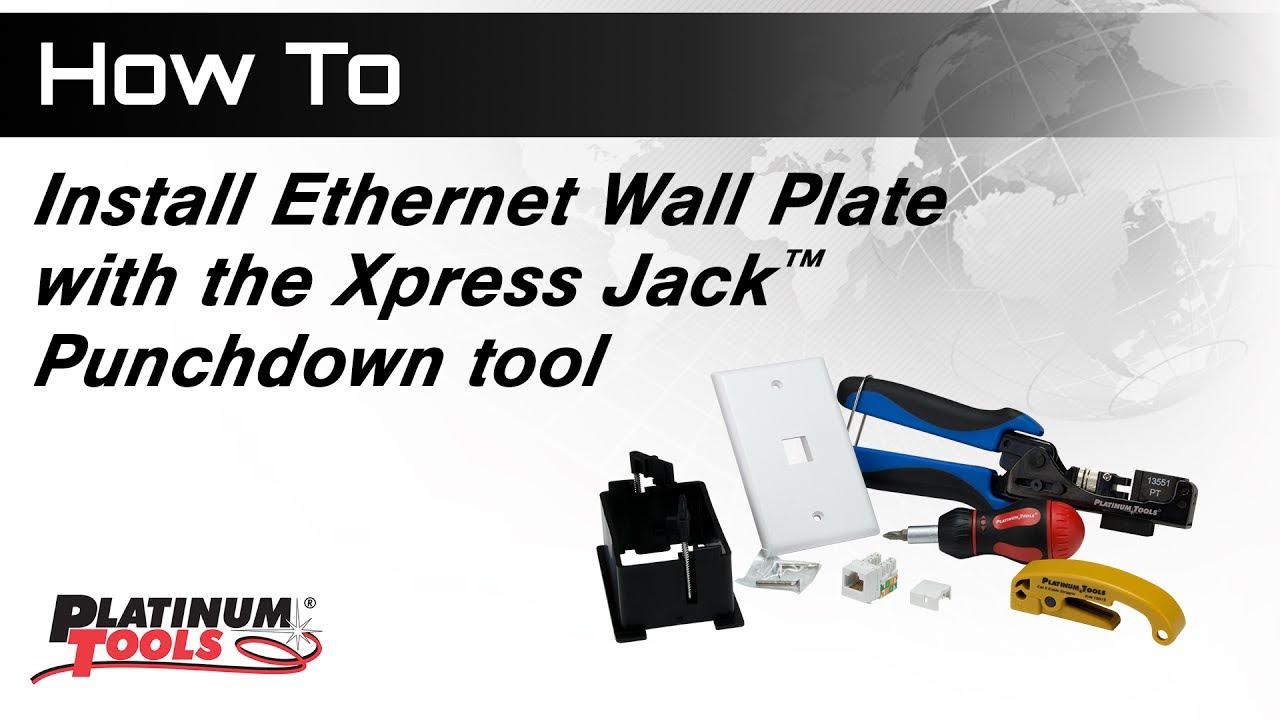 Ethernet Wall Jack Wiring Worksheet And Diagram How To Install Plate With Xpress Punchdown Tool Rh Youtube Com Plug
