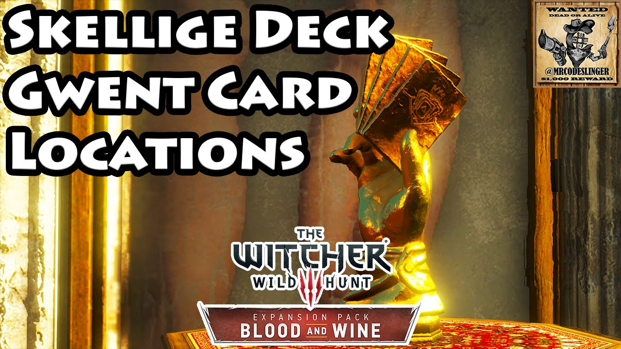 Gwent card locations the witcher 3 - Witcher 3 Blood And Wine Gwent Card Locations Skellige Deck 4k Ultra Hd