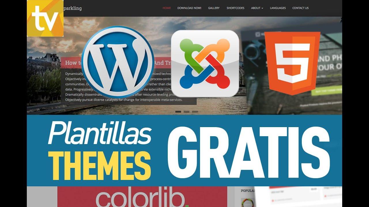 Plantillas gratis para wordpress, joomla y HTML - YouTube