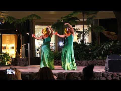 Hula Dance at the New International Marketplace in Waikiki, Hawaii