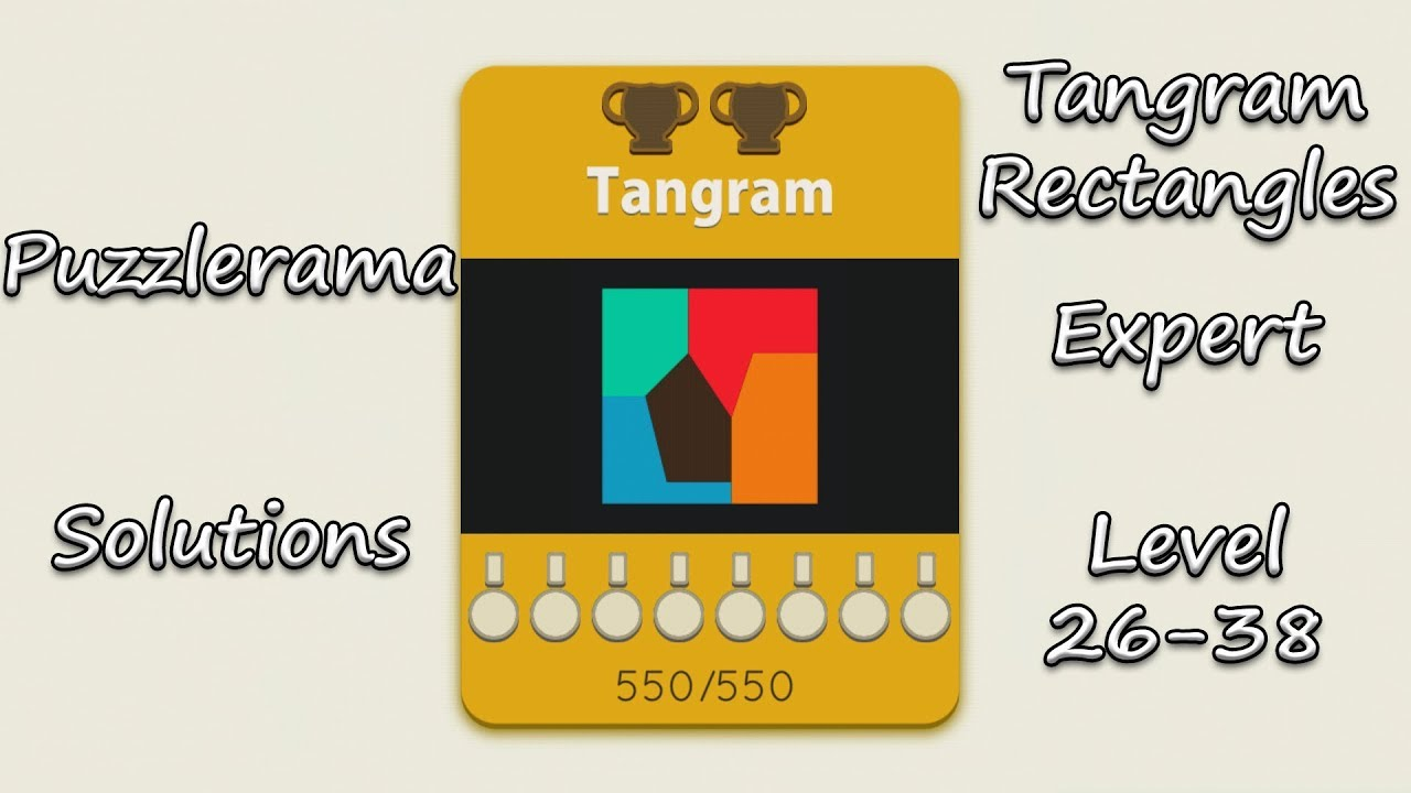 Puzzlerama Solutions - Tangram Rectangles Expert ( Level 26-38 )