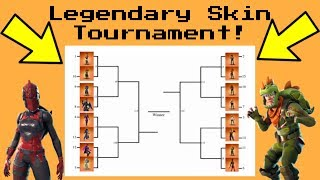 LEGENDARY SKIN RANKING *TOURNAMENT* Fortnite Battle Royale! (Group B)