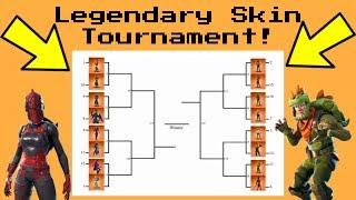 LEGENDARY SKIN RANKING *TOURNAMENT* Fortnite Battle Royale! (Group B)