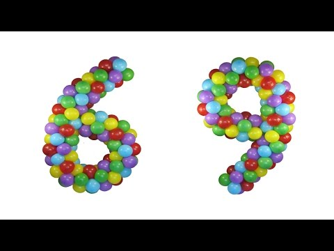 Цифра 6 своими руками из шариков