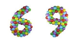 ШЕСТЁРКА (цифра 6) или ДЕВЯТКА (цифра 9) ИЗ ВОЗДУШНЫХ ШАРОВ своими руками Balloon Numbers