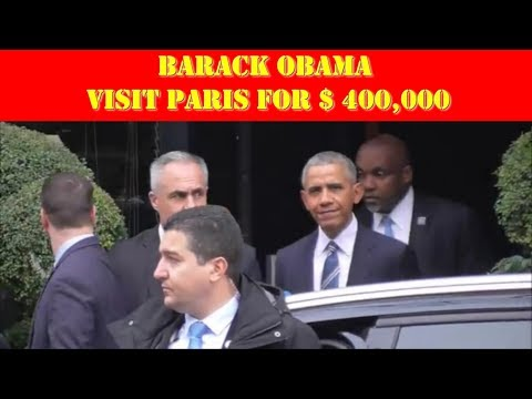 Barack Obama  ,his day to  400000$  in Paris