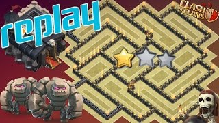 Th9 War Base With Replays 2017 With Bomb Tower Anti 3 Star/Anti 2 Star Anti Everything