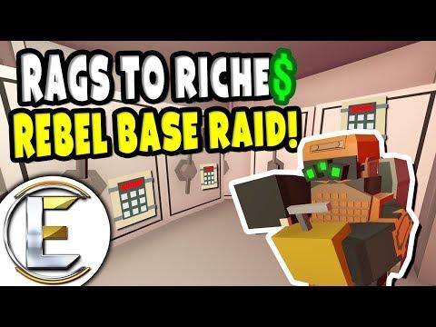 REBEL BASE RAID!   Unturned Roleplay Rags to Riches Reboot #11 - We Take Legendary Loot (RP) - Duur: 24:04.