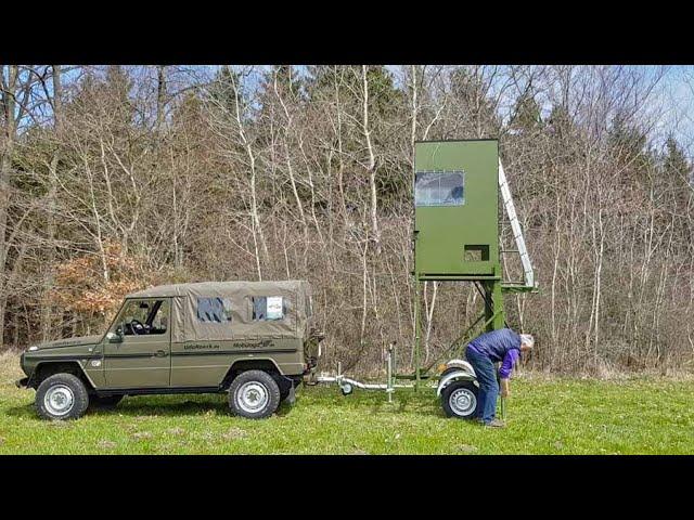 MobiJagd - Aufbau am Fahrzeug