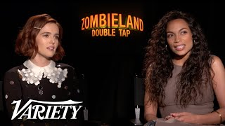 Rosario Dawson & Zoey Deutch Talk Being Newcomers in 'Zombieland: Double Tap'