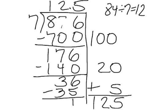 Partial Quotients Division Method With Decimals Youtube