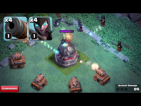 WINNING WITH LEVEL 1 TROOPS | Clash of Clans | Level 1 Night Witches and Cannon Carts