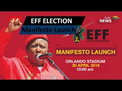 EFF LGE Manifesto Launch, Orlando Stadium: 30 April 2016