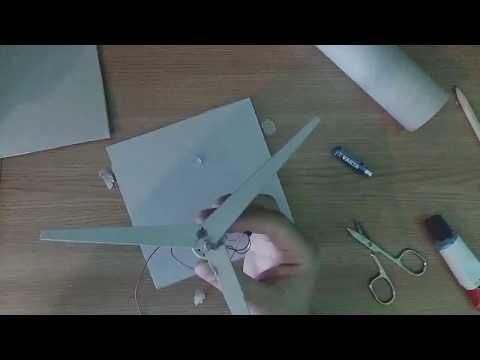 windmill from cardboard - school project