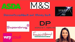 vouchers and discounts codes for M&S,Very.com,Dorothy Perkins,Superdrug,Asda,Frankie & Benny's