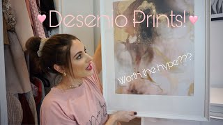 Desenio prints unboxing | how they come packaged + framed using IKEA frames