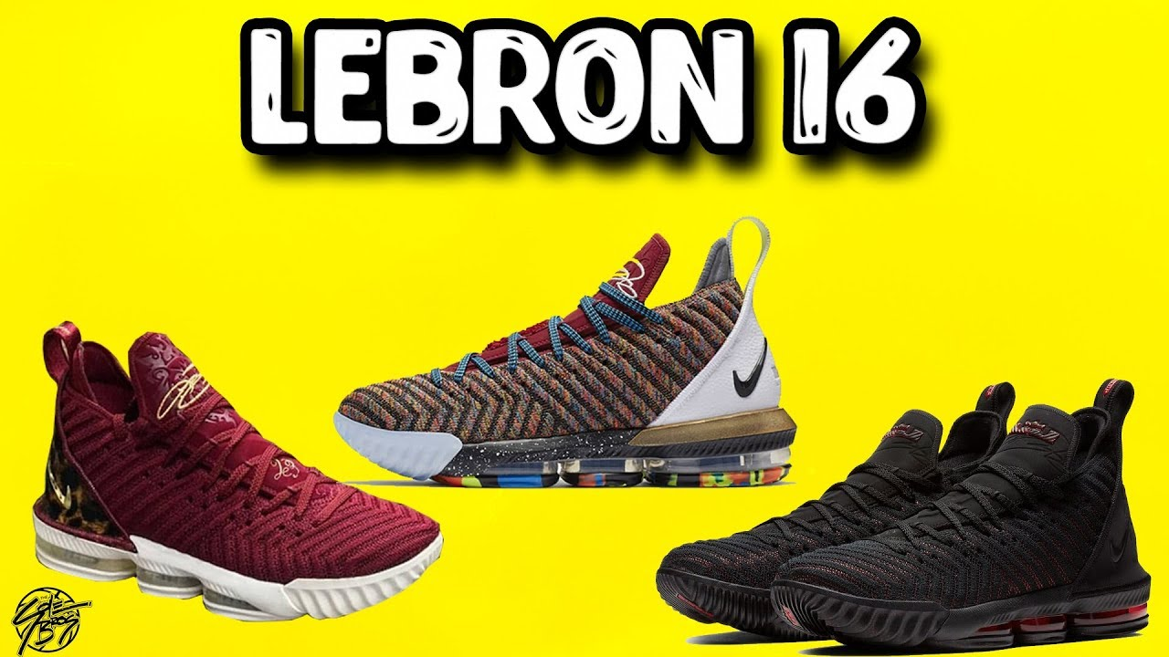 62263da95bf Nike Lebron 16 New Colorways + Official Images  Tech Specs! - YouTube