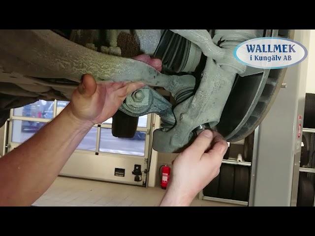 Wallmek demontage fuseekogels draagarmkogels Land Rover