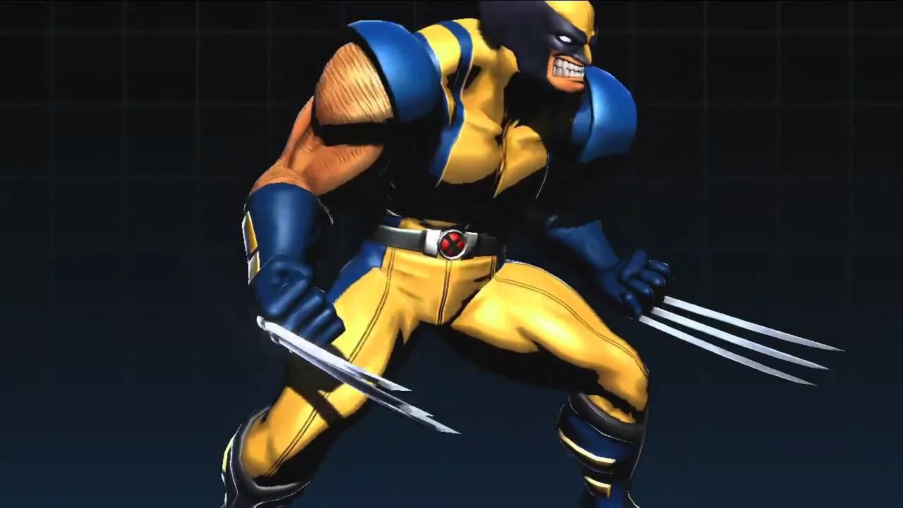 Wallpaper 3d Animado Marvel Vs Capcom 3 Wolverine Amp Hulk Character Model Youtube