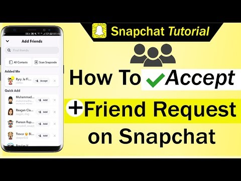 How to know when someone accepts your friend request on snapchat