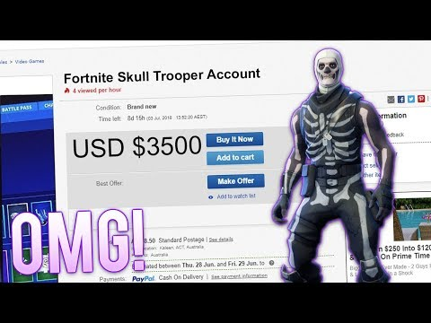 buying a rare fortnite account with skull trooper all skins scammed exposed - buy fortnite account cheap