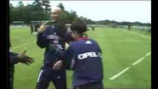 worldcup 1998 french team trains for brasil match & ronaldo