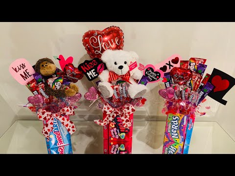 DIY How To Make A Candy Bouquet For Valentine's Day | EASY DIY GIFT IDEAS