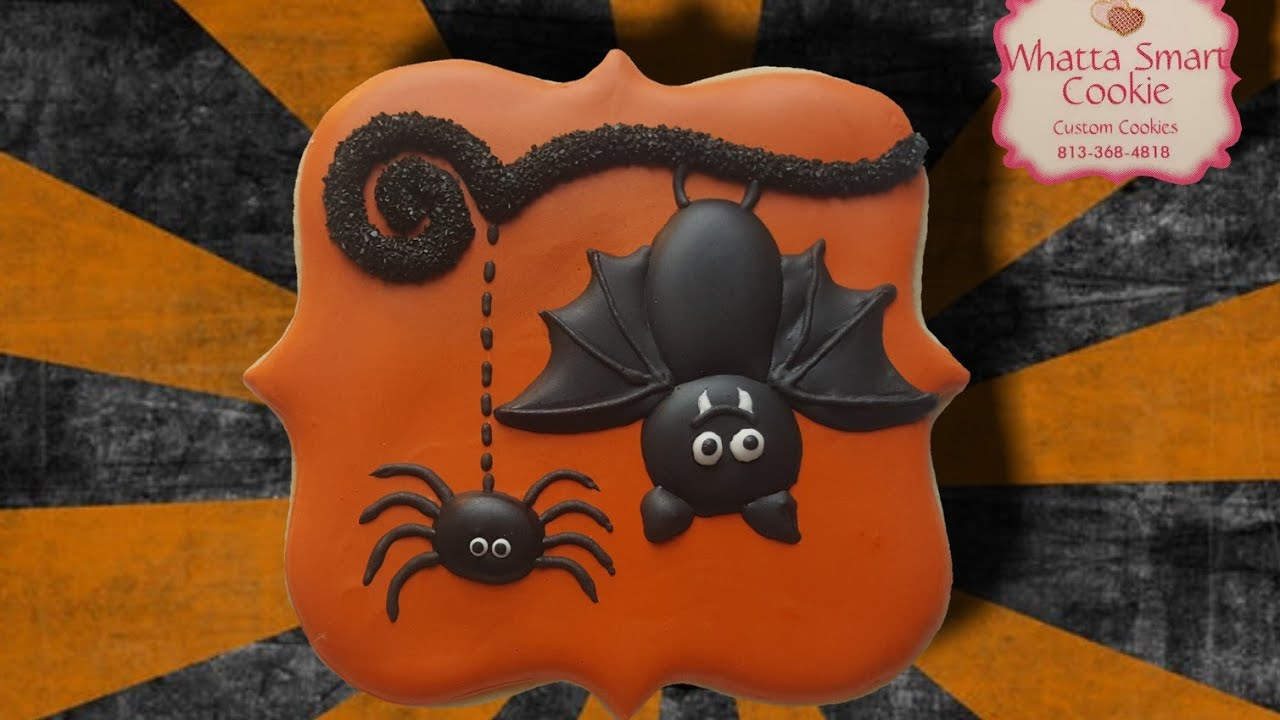 How to decorate adorable bat spider cookies. - YouTube How To Decorate A Bat on how to draw a bat, how to dry a bat, how to create a bat, how to wrap a bat, how to build a bat, how to identify a bat, how to cook a bat, how to cut a bat, how to paint a bat, how to buy a bat, how to clean a bat, how to make a bat,